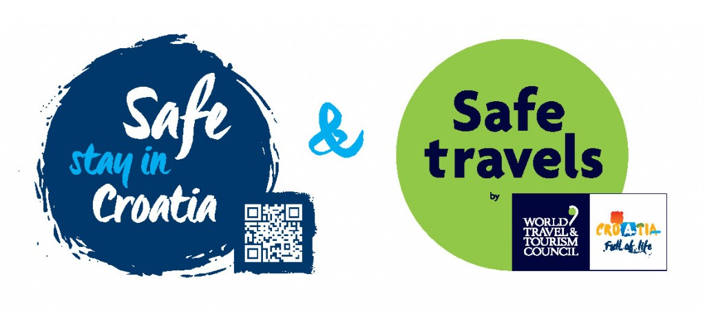Safe stay in Croatia+WTTC Safe travels_stamp_blue_QR_poz
